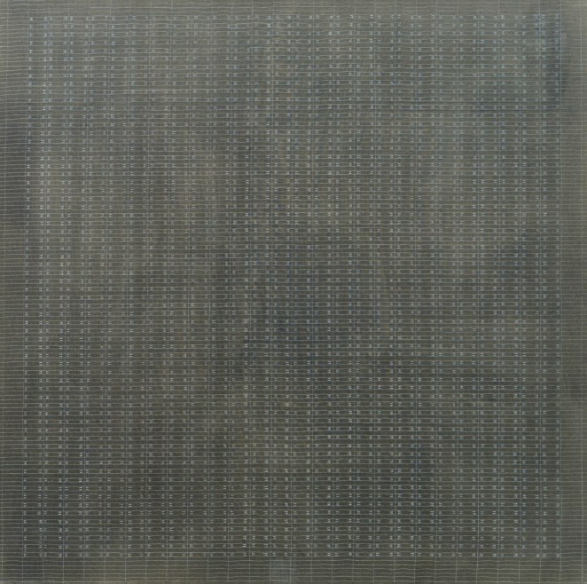 Agnes Martin,  White Flower , oil on canvas, 1960