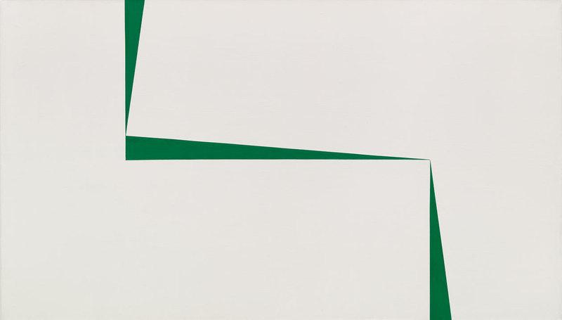Carmen Herrera, Blanco y Verde, 1966-67