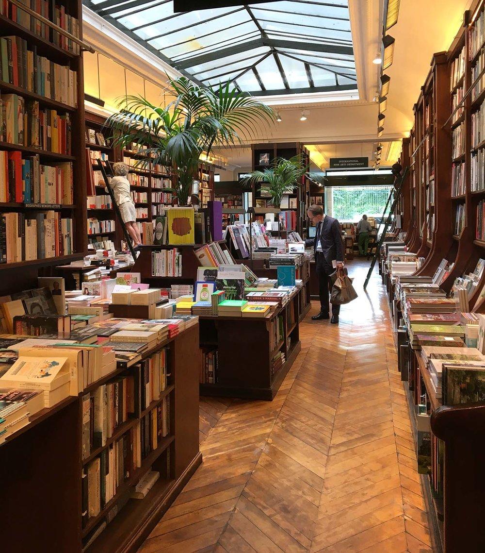 Inside of Galignani Bookstore