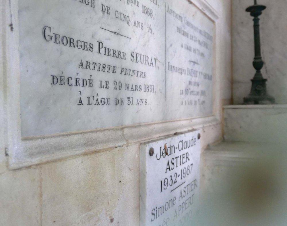 Père Lachaise Cemetery, Seurat's grave