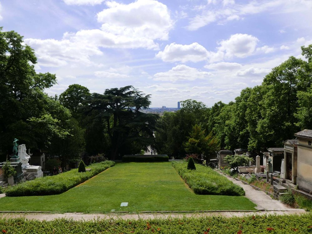The view of Paris from Père Lachaise Cemetery
