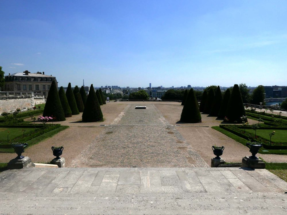 Site of the former Chateau, looking towards Seine and Paris