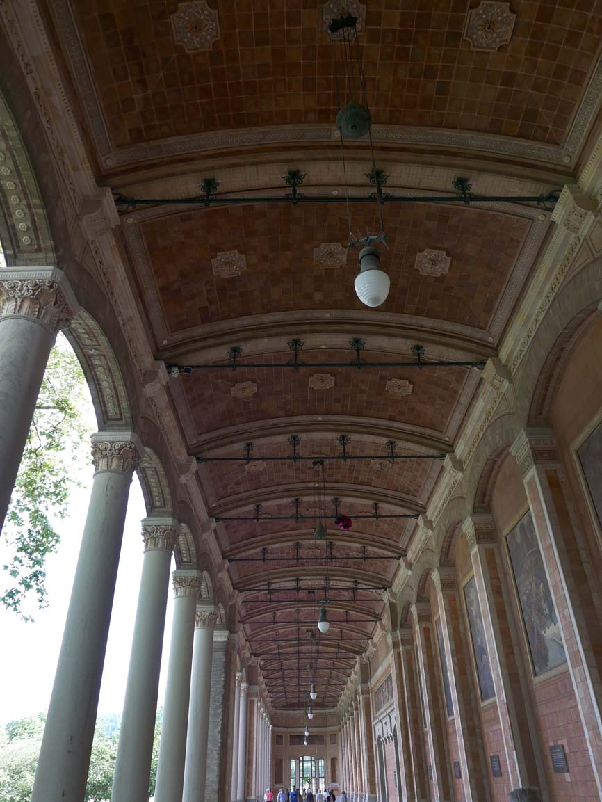 "The ceiling of the terrace of the ""Trinkhalle"""