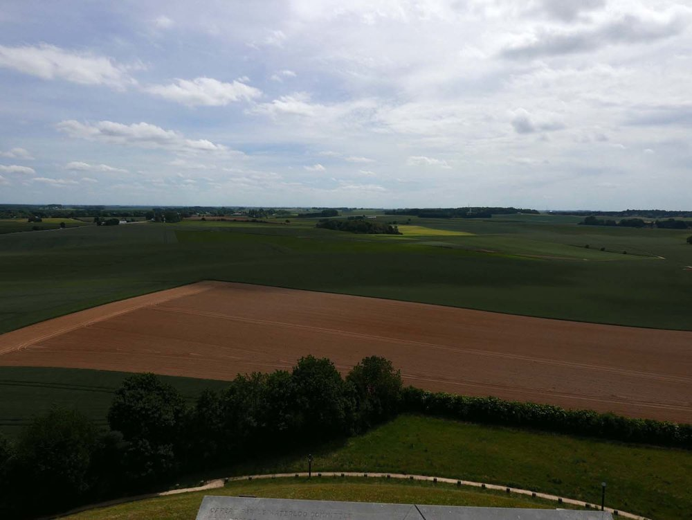 the fields where the battle was fought