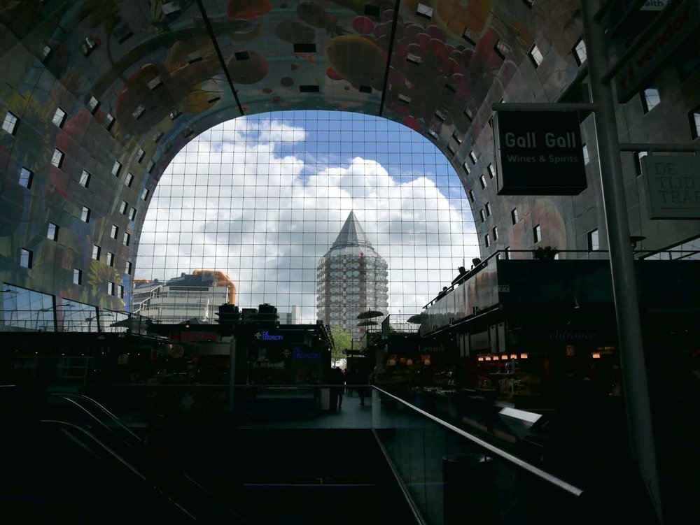 the view from inside the markthal