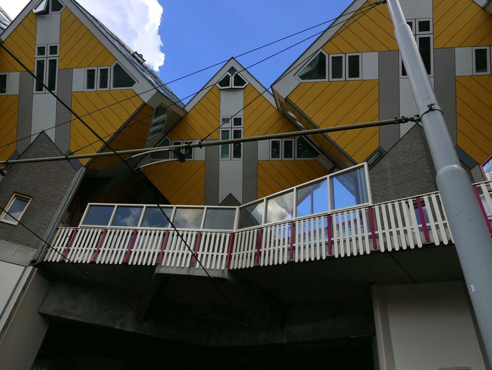 The cube houses, designed by Piet Blom