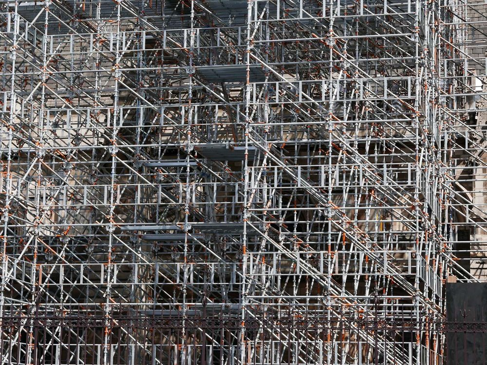 Scaffolding on the Parliament building