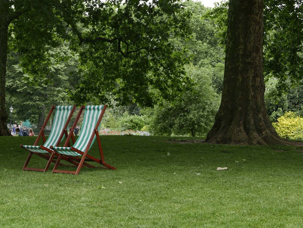 chair pair, St. James Park