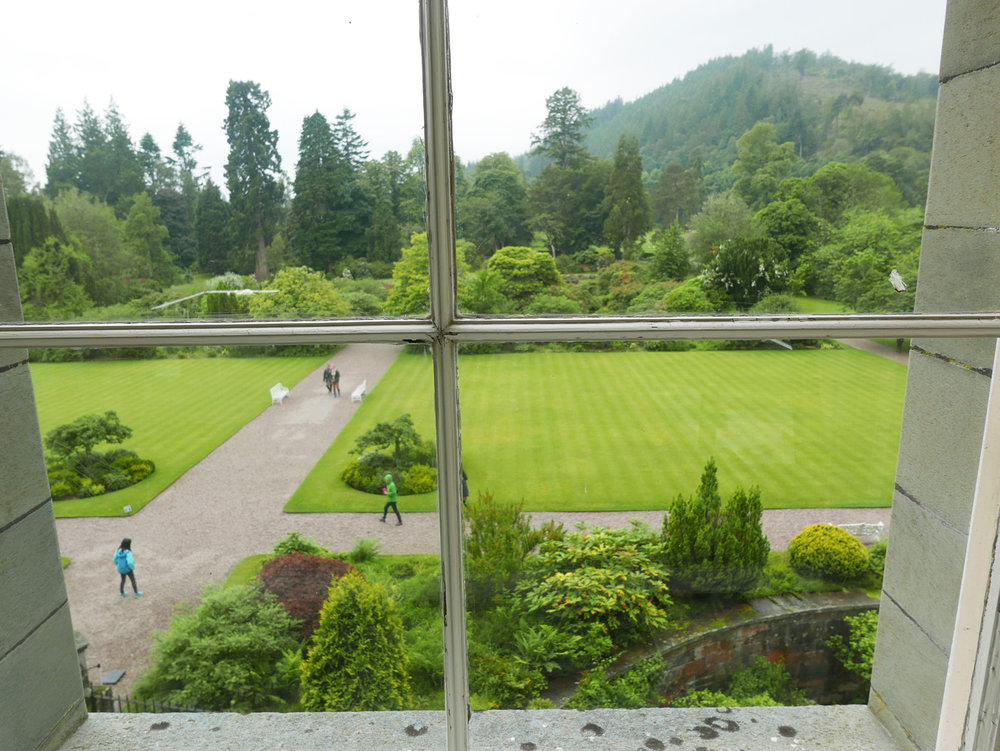 The grounds from the window