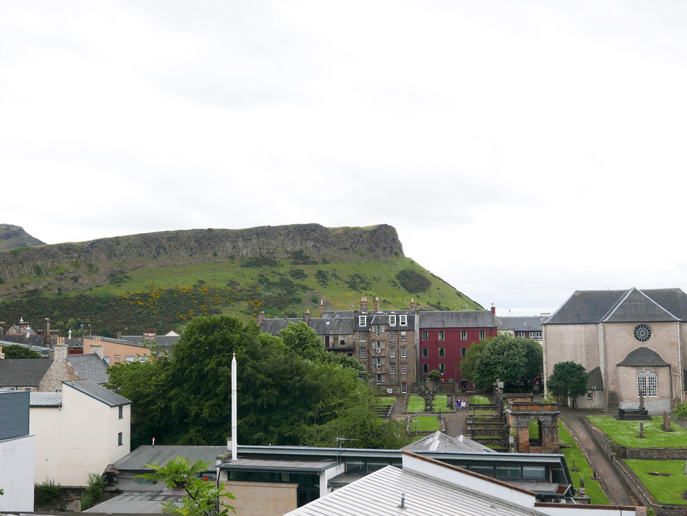 view of Arthur's seat from Calton Hill