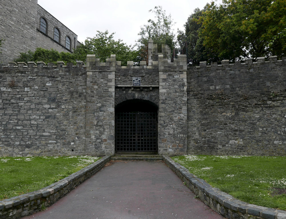 Dublin's old city wall and gate