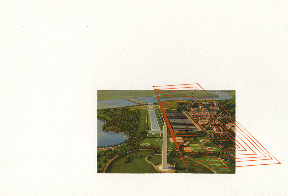 Aerial view with Washington Monument