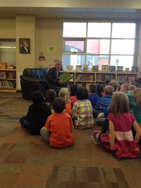 Read in Week at Esther Starkman School, Terwillegar Towne.
