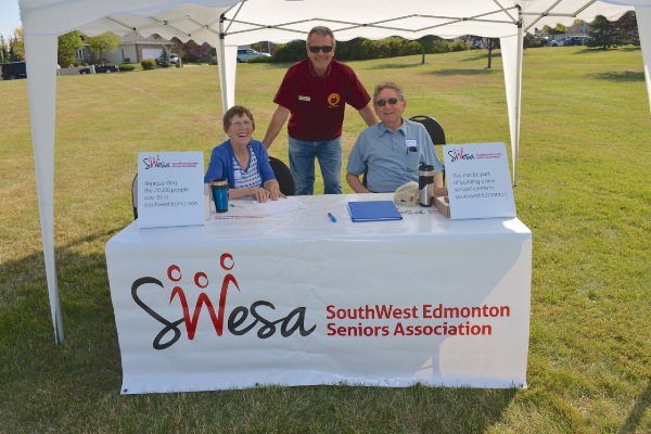 Bryan Anderson with members of SWESA at Party on the Hill. (September 14, 2013. Photo courtesy of Dr. Rob Agostinis)