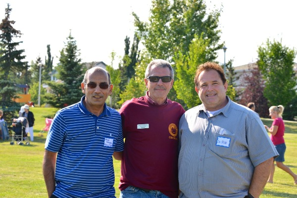 From left: Tariq Chaudary, Bryan Anderson, and Dr. Rob Agostinis. (Photo courtesy of Dr. Rob Agostinis)