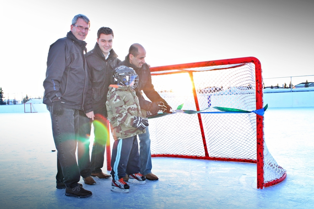 Ribbon Cutting Ceremony Twin Brooks Ice Rink (Februray 2013)