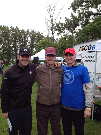 Ryan Jespersen, Bryan, and Craig MacTavish at the Father's Day Run (June 16, 2013)