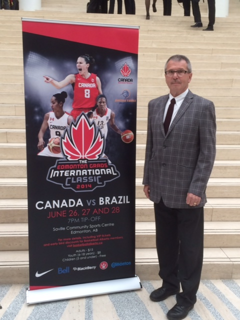 Councillor Anderson took part in the announcement of The Edmonton Grads International Classic - Canada vs Brazil June 26,27,and 28 at the Saville Community Sports Centre.