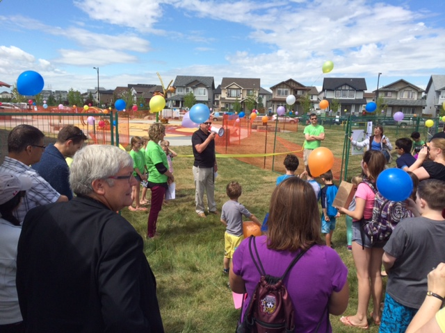 The South Terwillegar Spray park Grand Opening was held July 19th, 2014.