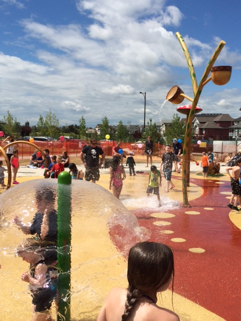 The spray park will be a gathering place for the community.  Congratulations to the Terwillegar Community League for their hard work!
