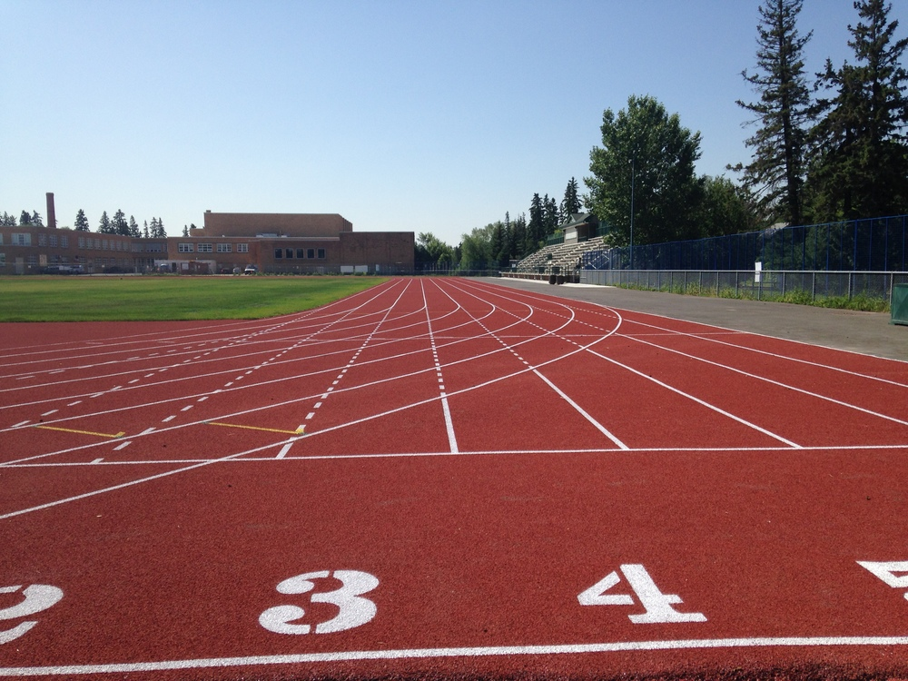 Rollie Miles Track renewal project is completed September 2, 2014.