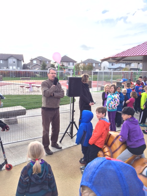 The South Terwillegar Playground grand opening was held Sunday October 4, 2015.