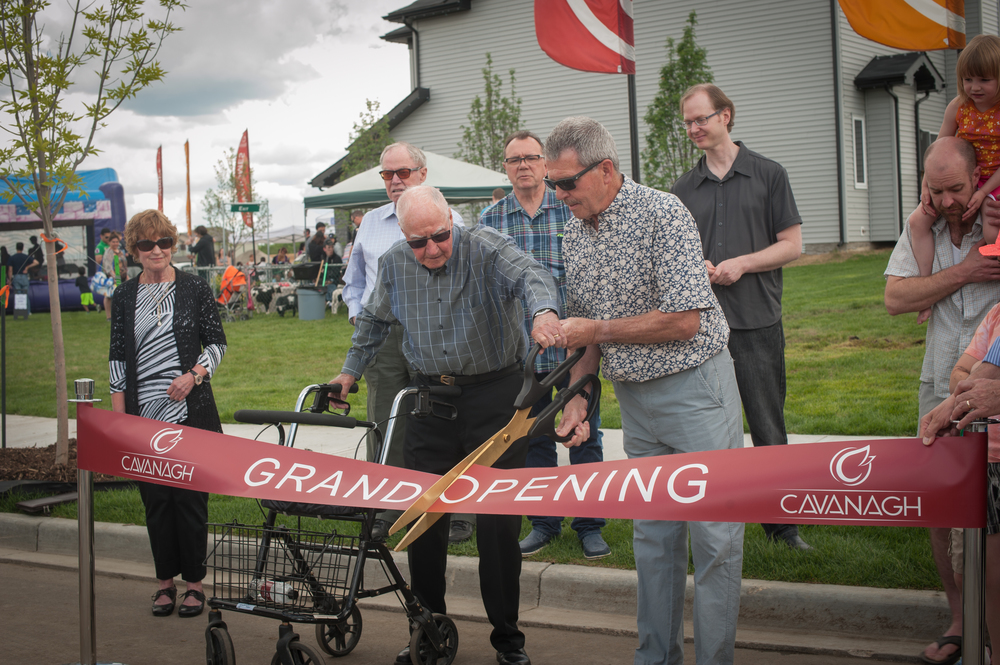 May 29, 2016, Cavanagh Neighbourhood was officially opened by former mayor and councillor Terry Cavanagh, who served for 27 years on Council.  Councillor Anderson was on hand to help with the ribbon cutting.