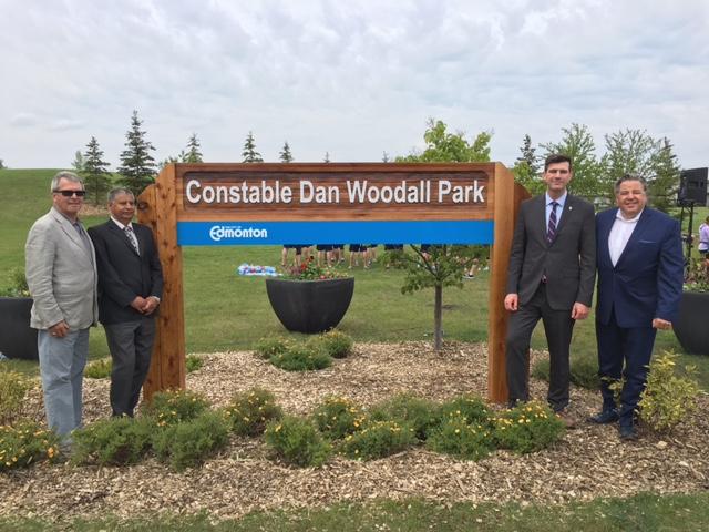 June 8, 2016 Constable Dan Woodall Park naming celebration.