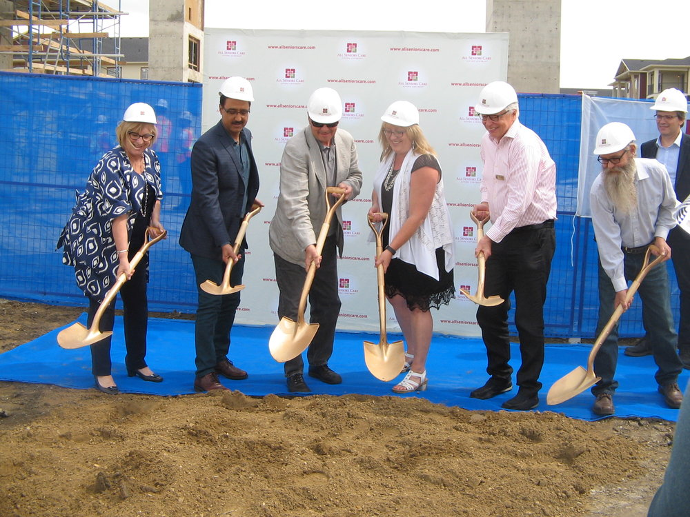 July 14, 2016 Ground Breaking event at the Mactaggart Place Seniors Centre. Opening 2018.