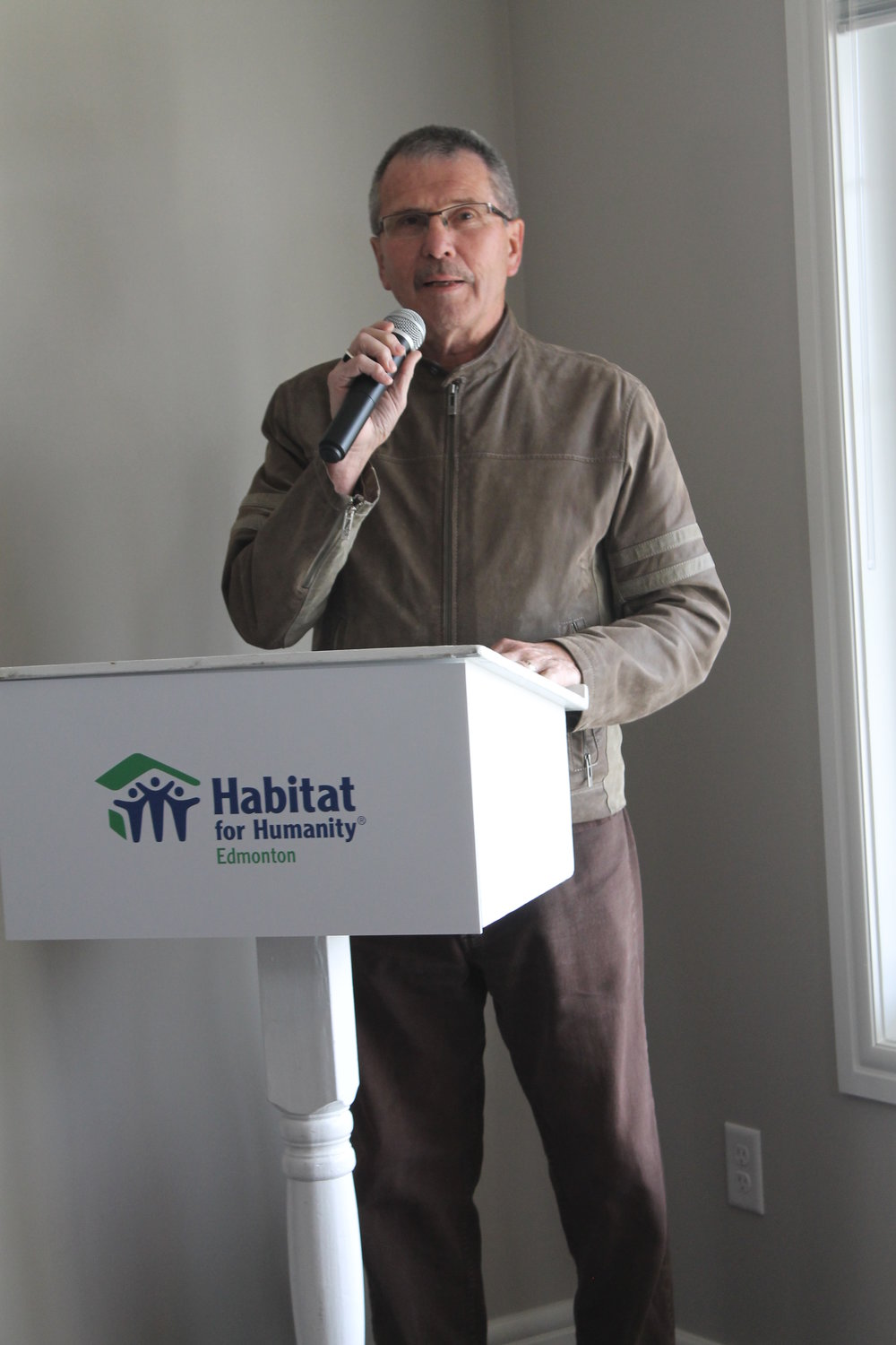 September 29th Speaking at a second Habitat for Humanity event.