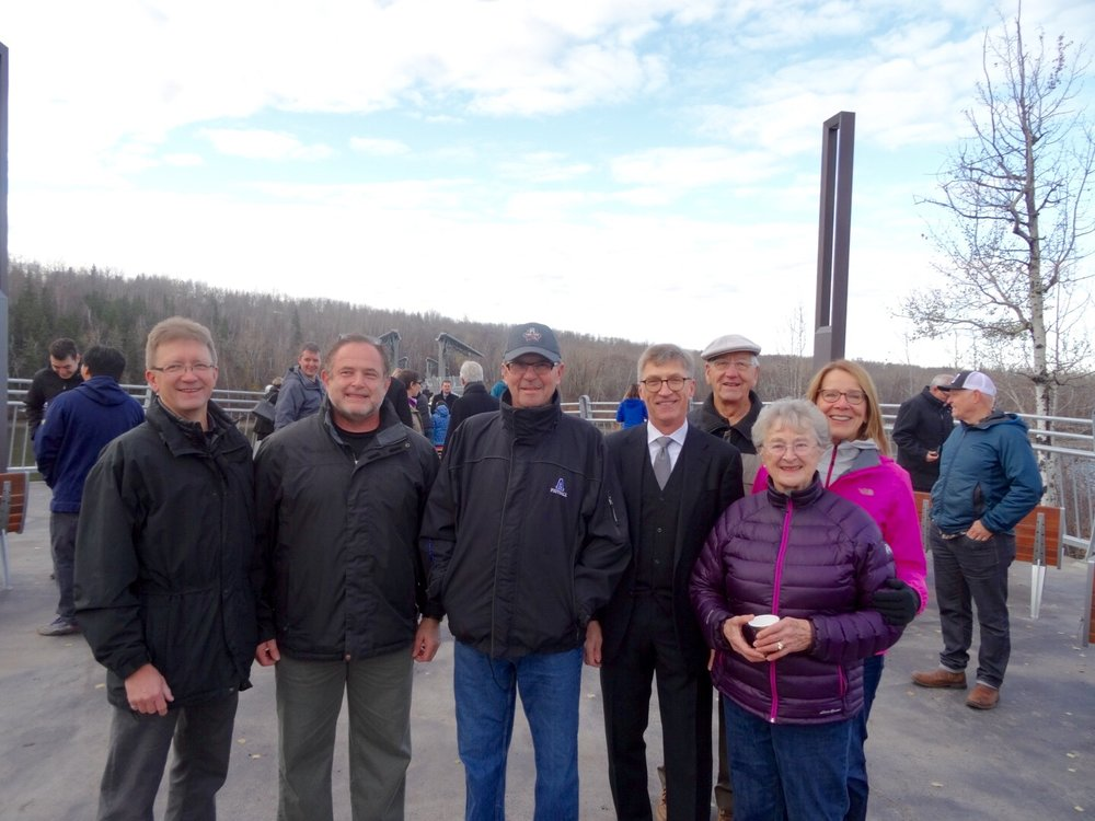 Councillor Anderson and guests at the Footbridge Opening.  Photo courtesy of Rob Agostinis.