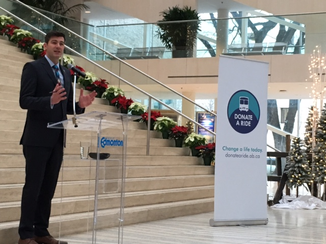 Mayor Iveson speaks at the 2016 campaign kick off.