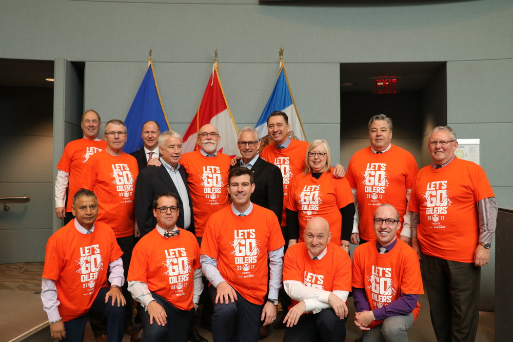 April 11 2017 Council and Mayor Iveson proclaiming Orange Crush Time in Edmonton.