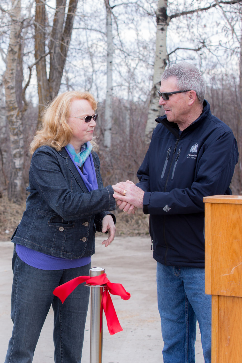 Councillor Anderson and Pam Wight, April 29,2017.