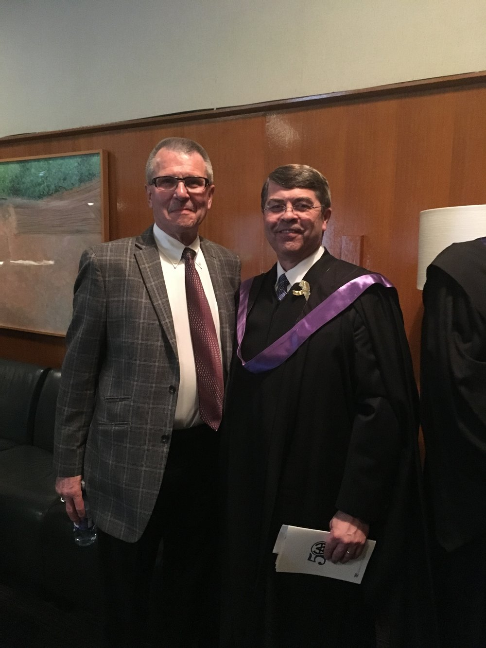 Councillor Anderson and Harry Ainlay principal Gane Olsen