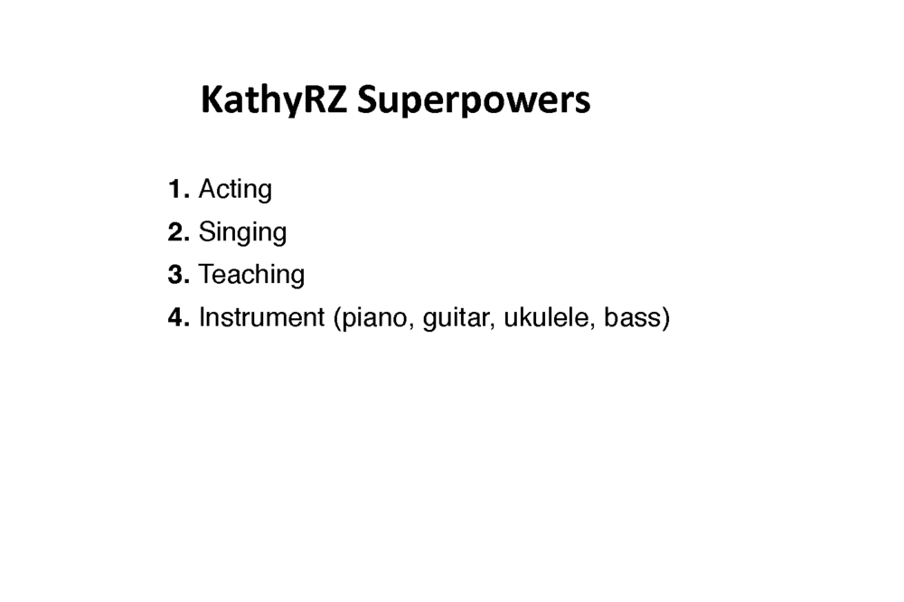 KathyRZ: Superpowers