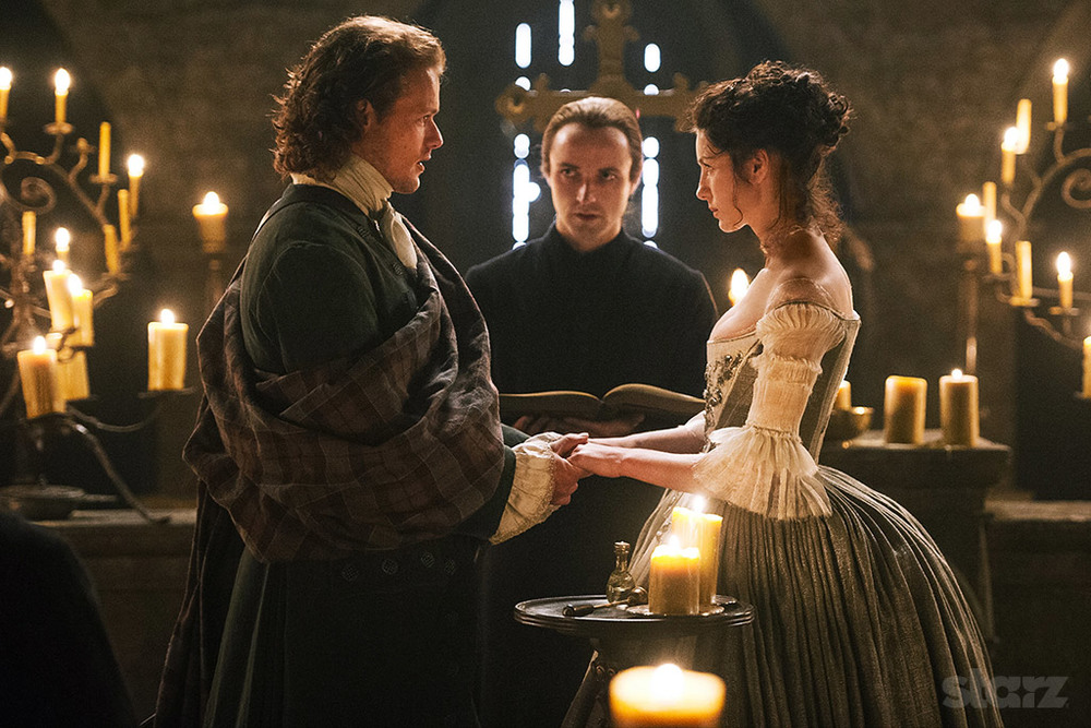 Claire & Jamie. Outlander: The Wedding.