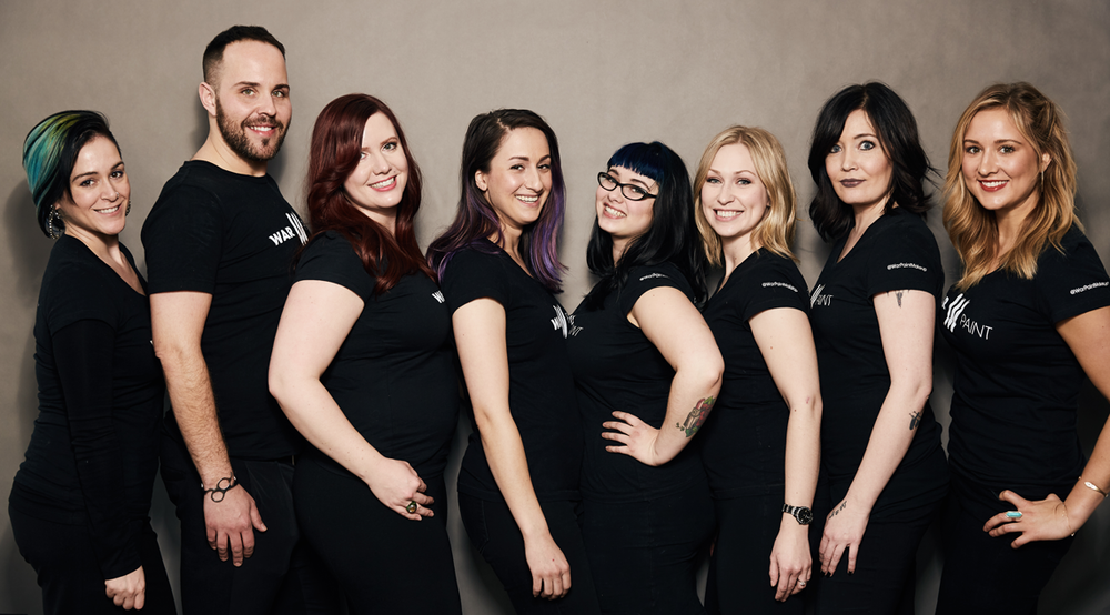 The SS 2016 Trend Collection Team.  From left to right: Hair Assistant Artisan Katie, Artistic Director Benjamin Rodich, Creative Director Jessica Mae, Makeup Assistant Artisan Naseem, Makeup Assistant Artisan Anna, Makeup Assistant Artisan Amber, Hair Assistant Artisan Heidi, Hair Assistant Artisan Taylor.