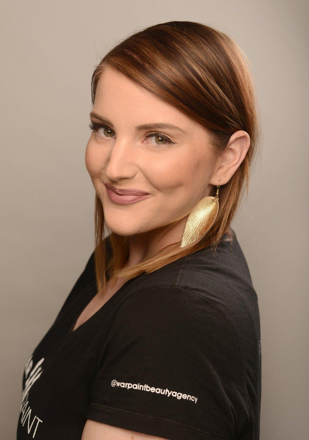 Hillary Kline. Minneapolis Makeup Artist for WarPaint International Beauty Agency.
