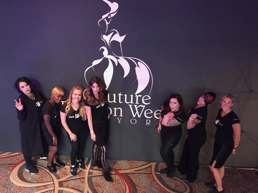 The Couture Fashion Week NYC Team     From left to right : NYC Artisan Stefanie, NYC Artisan Fay, NYC Artisan Gabby, MPLS Artisan Mariah, WPI Founder Jessica Mae, WPI Director of Education Katie Rote, NYC Artisan Danielle.