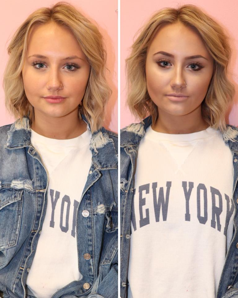 Makeup Before/After
