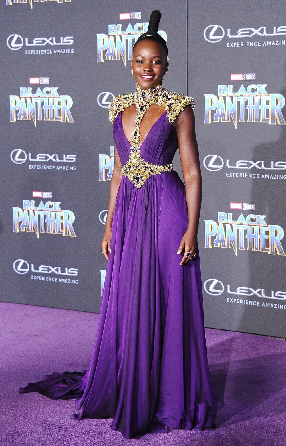 Lupita Nyong'o on the Red Carpet. Image Source:  US Magazine