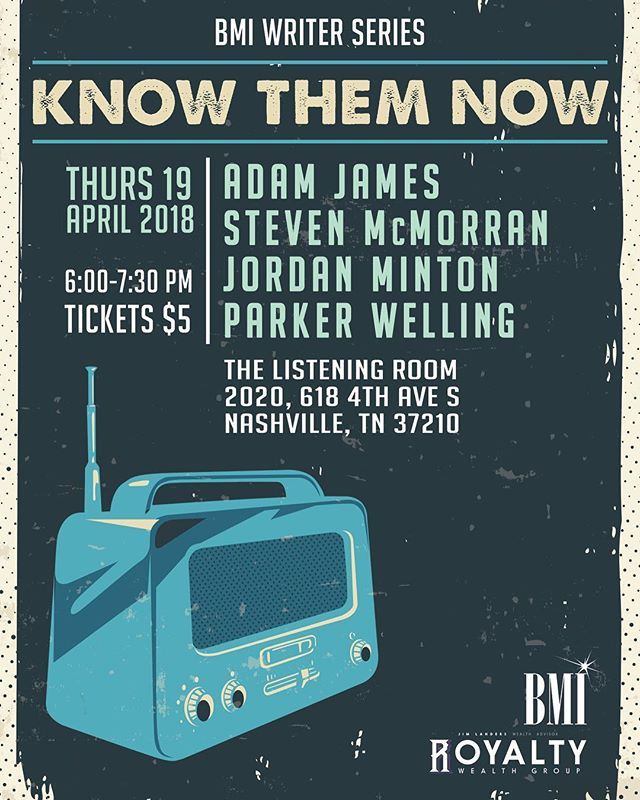Tonight. 6pm. @listeningroomcafe. @stevenmcmorran.