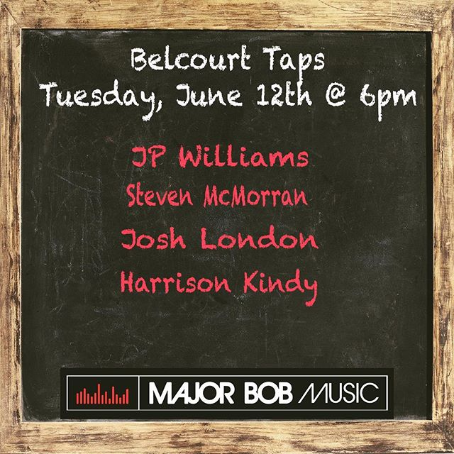 Come hang with us next Tuesday, June 12th at 6pm @ Belcourt Taps!