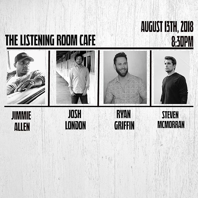 Save the date! Come hang out with us @listeningroomcafe on Monday, August 13th!!