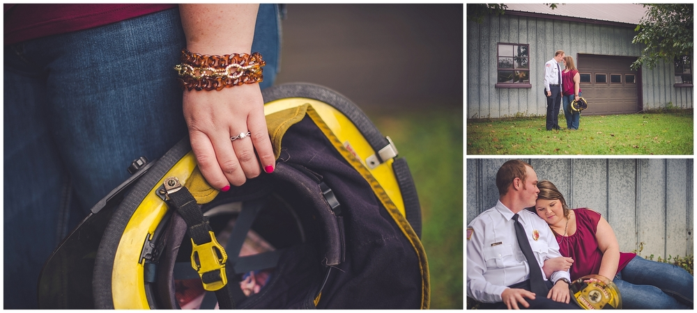 By Kara - By Kara Photo - Kara Evans - Watseka Illinois Photographer - Watseka Engagement Photographer - Fire Engine Engagement Photos