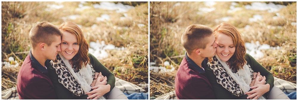 By Kara - Kara Evans - By Kara Photo - Engagement Session - Penfield Illinois Photographer - Illinois Farm Engagement Photographer - Rural Farm Couples Session
