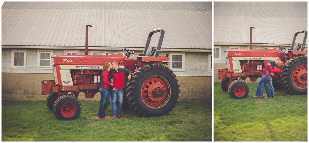 By Kara - Kara Evans - By Kara Photo - Engagement Session - Penfield Illinois Photographer - Illinois Farm Engagement Photographer - Rural Farm Couples Session