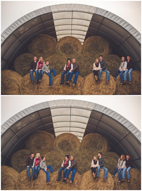 Hesterberg Family Sonrise Farms - Farm Family Photo Session - By Kara Farm Photographer - Winter Family Photography Session
