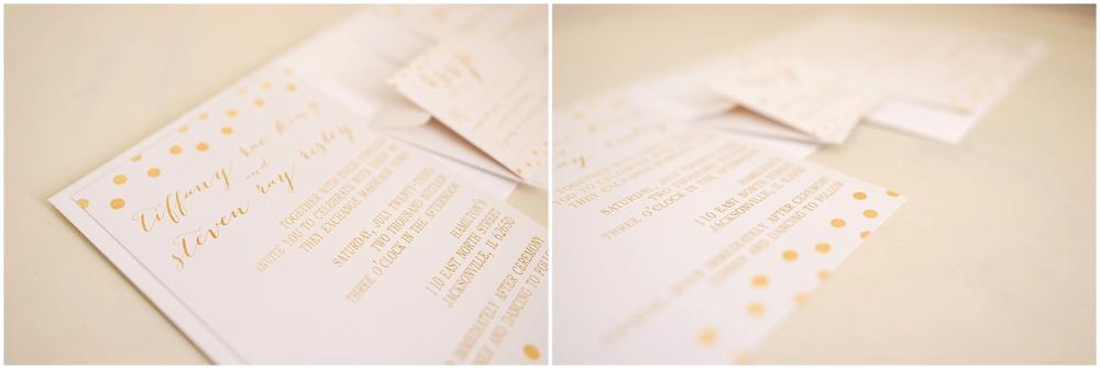 By Kara - Kara Evans - Cream and Gold Custom Wedding Invitation Inspiration - Wedding Wednesday - Wedding Blogger